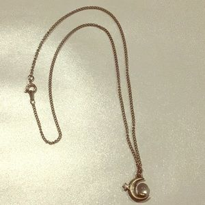 Jewelry - MS Dee Crescent Moon and Globe Pewter Necklace